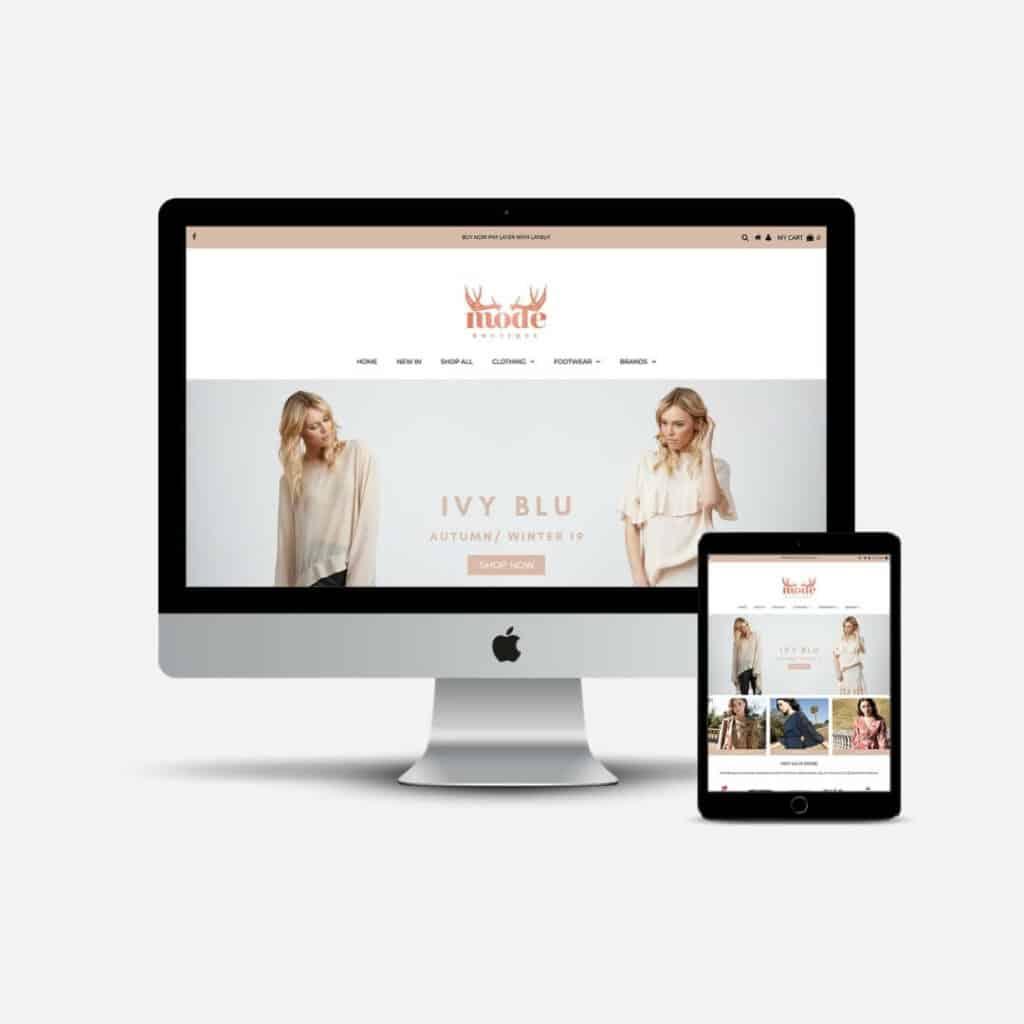 Mode Boutique Website Preview