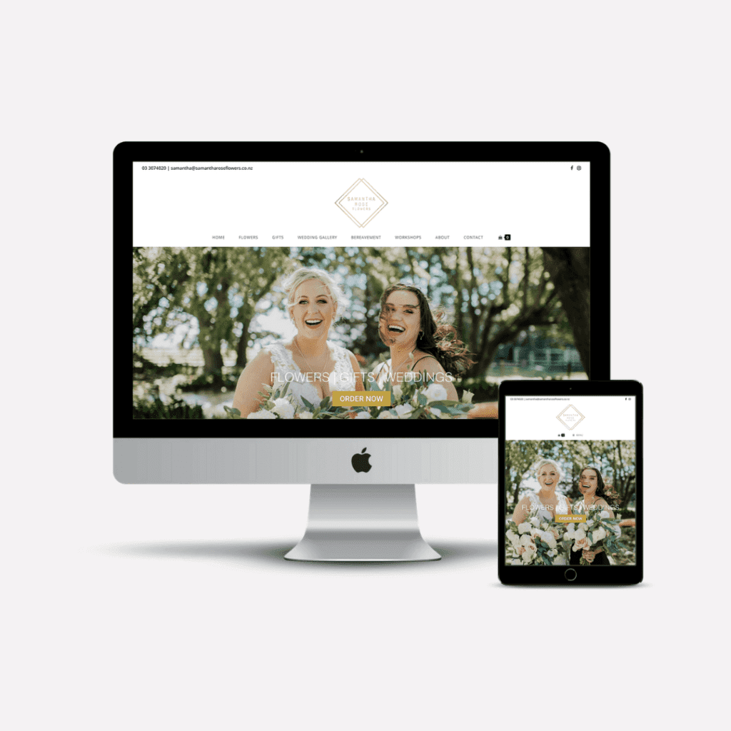 Samantha Rose Flowers Website Preview