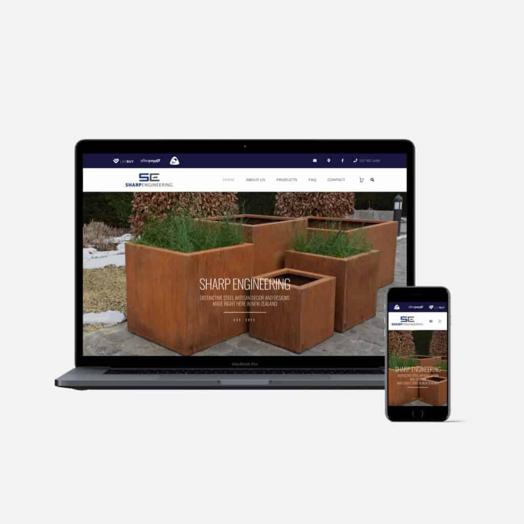 Sharp Engineering Website Preview