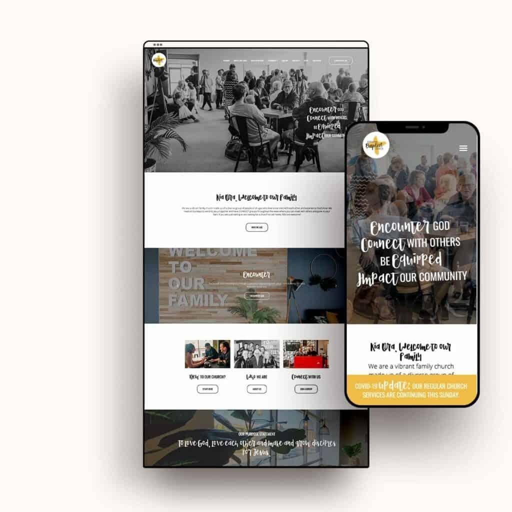 Ashburton Baptist Church Website Preview